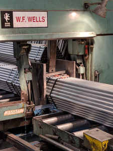 Galvanized Steel Fabrication - Saw Cutting
